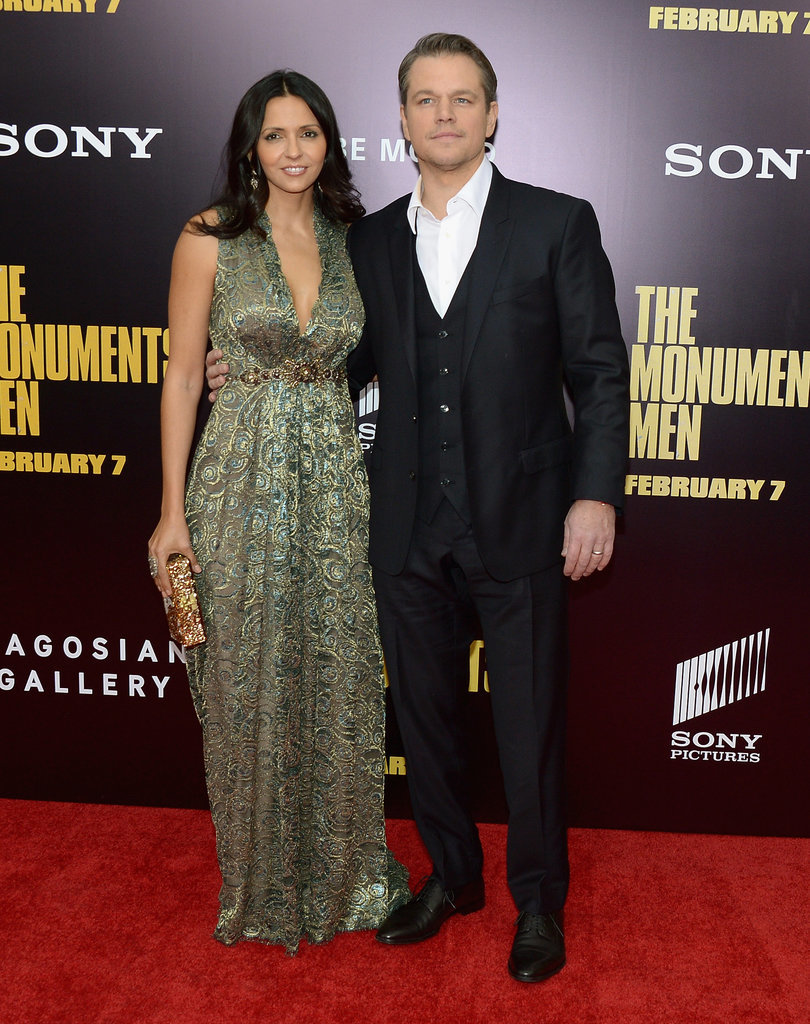 Matt Damon brought Luciana Damon as his date to the premiere.