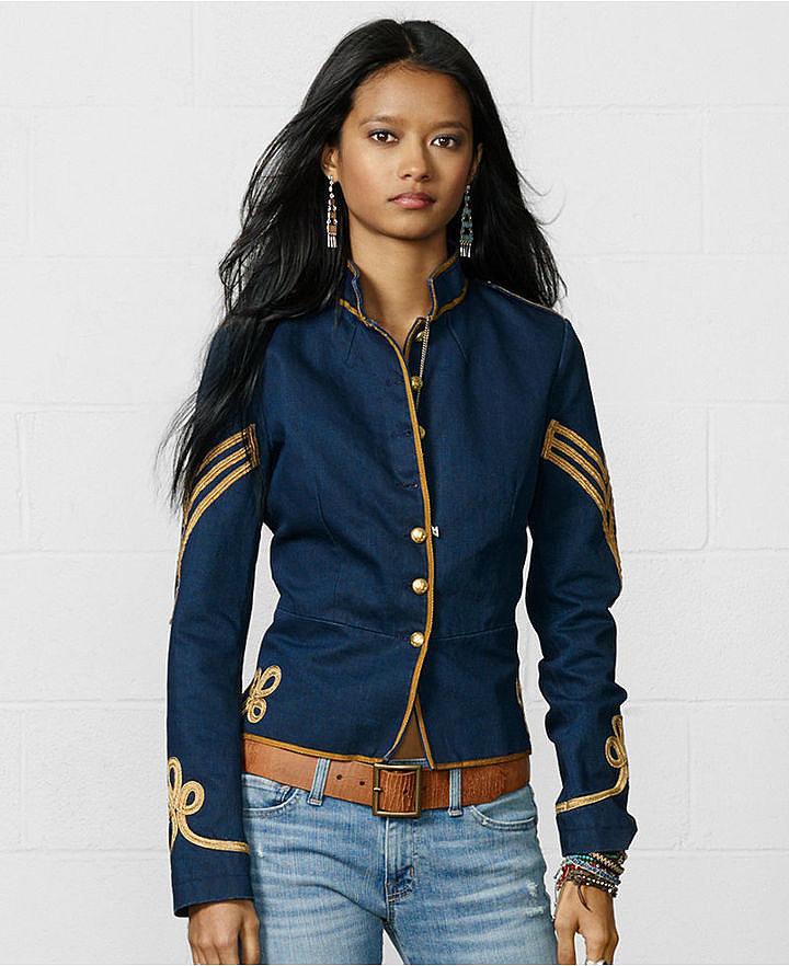Denim & Supply Ralph Lauren Button-Front Braided Military Jacket ($198)