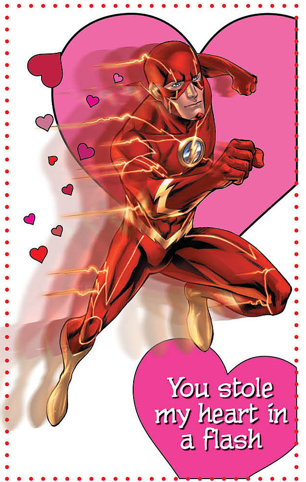 Flash makes an impressive appearance in this valentine that you can get when you buy the Young Romance book ($18) fr
