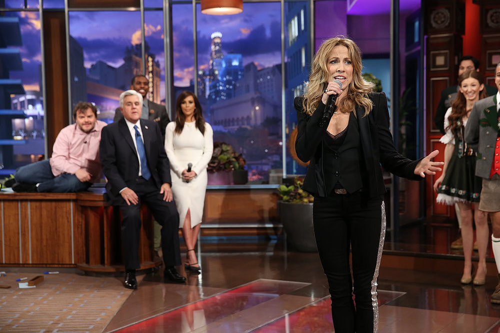 Sheryl Crow was among the stars to step out during the performance.