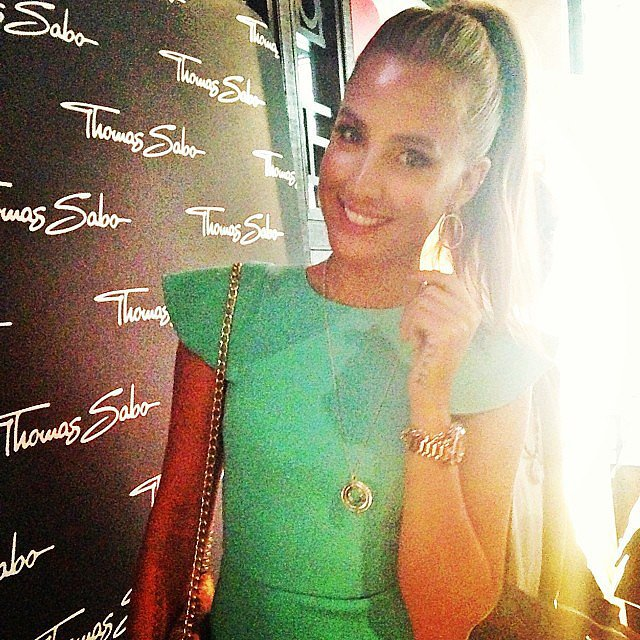 Laura Dundovic was all smiles at a Thomas Sabo launch during the week — and we couldn't take our eyes off her stunning Yeojin Bae dress!