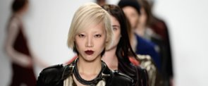Rebecca Minkoff's Beauty Look Was a Battle of the Sexes