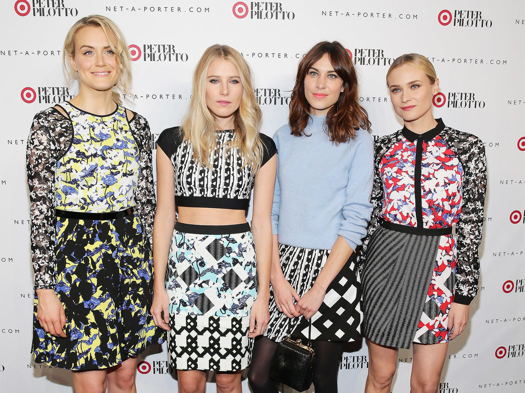 Taylor Schilling, Dree Hemingway, Alexa Chung, and Diane Kruger wore patterned ensembles at the Peter Pilotto for Target launch event on Thursday.