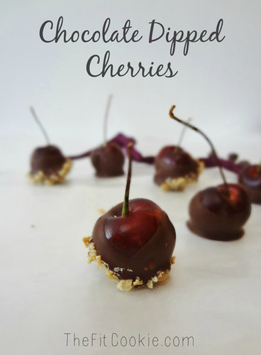 Chocolate Dipped Cherries - TheFitCookie.com