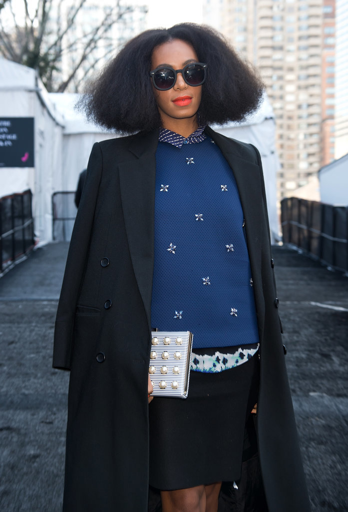 Solange Knowles looked absolutely chic.
