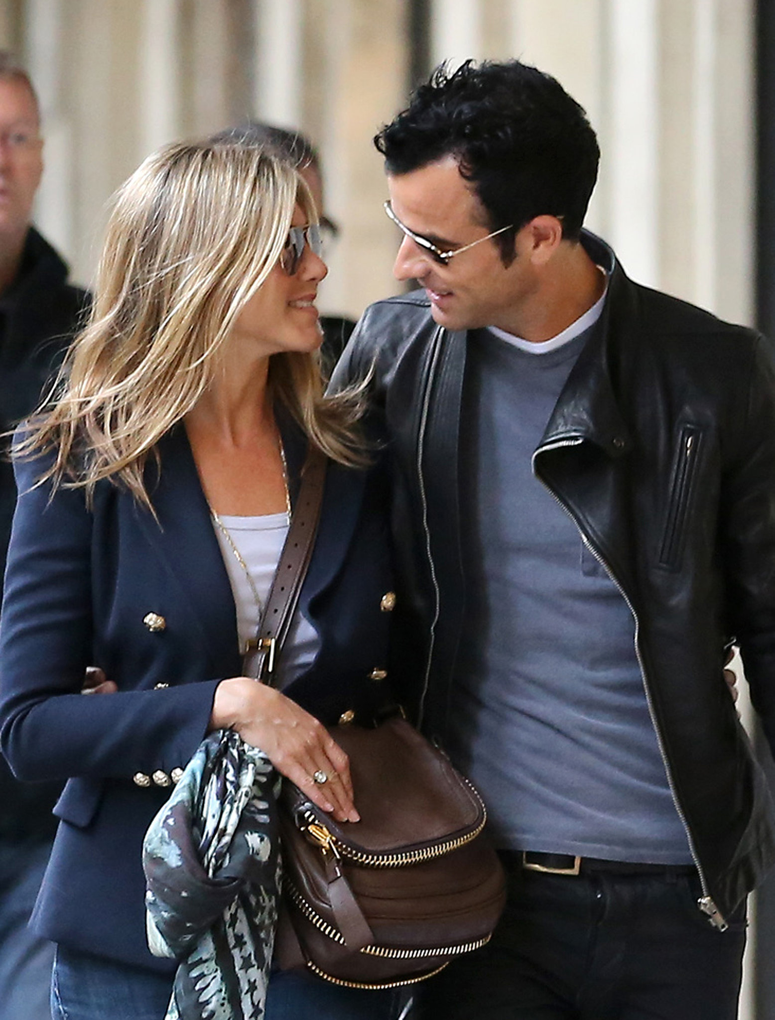 Jennifer and Justin shared a look of love in Paris in June 2012.