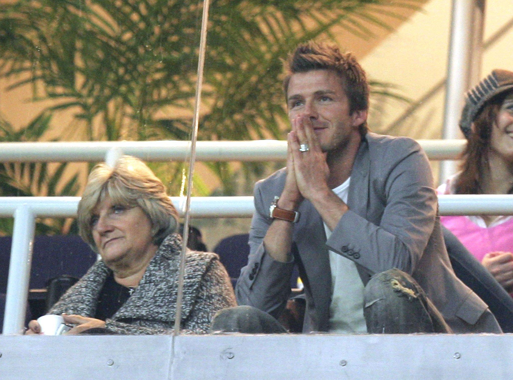 David Beckham and Sandra Beckham