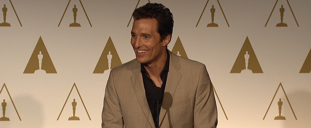 "Matthew McConaughey Is ""Already in Celebration Mode"""
