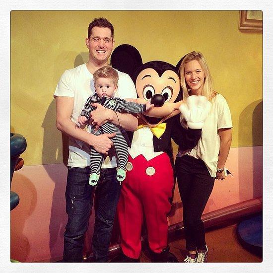 Michael Buble and Luisana Lopilato Bring Noah to Disneyland