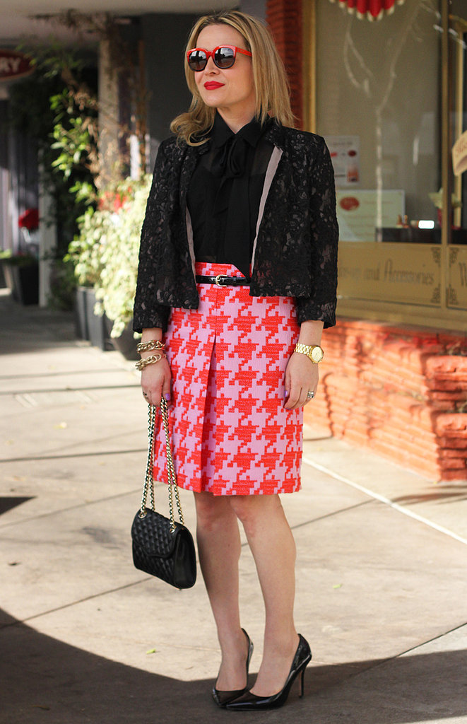 Congrats, huntercollector! Can we talk about your houndstooth skirt for a second?