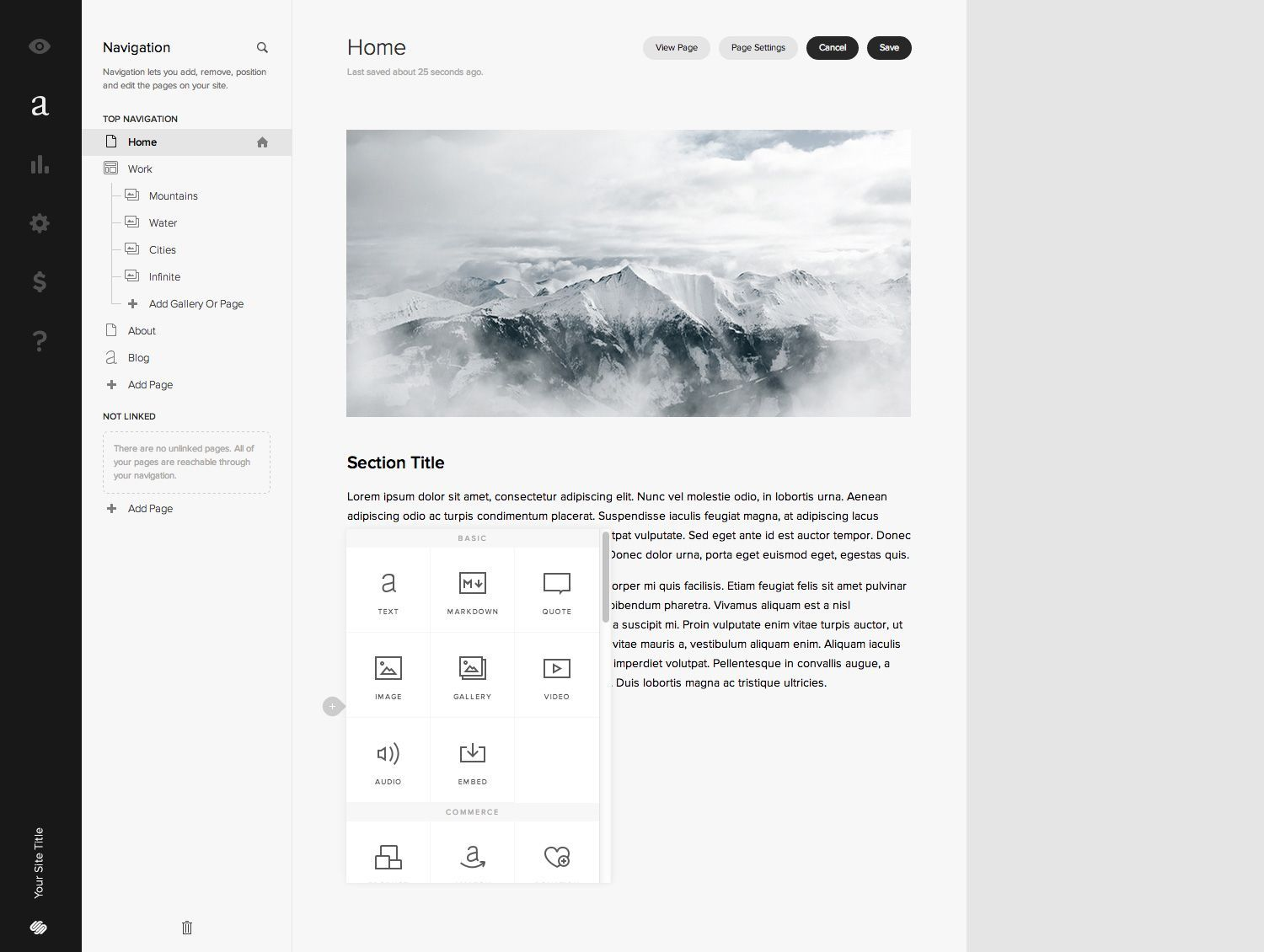 A look at the easy-to-use interface.