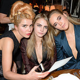 Suki Waterhouse and Cara Delevingne at Pre-BAFTAs Party 2014
