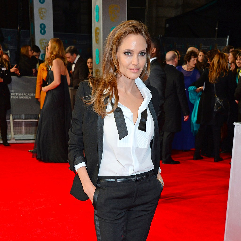 Angelina Jolie in Tuxedo Pantsuits | Pictures