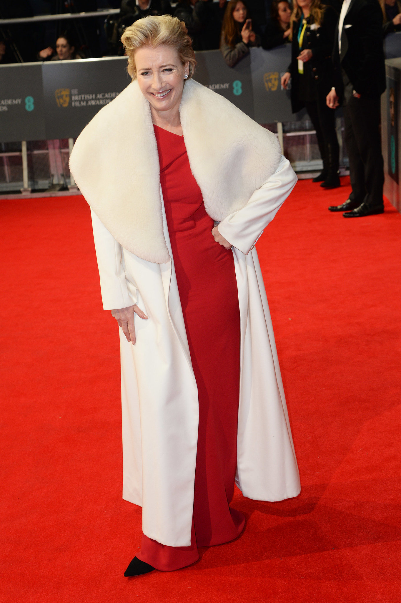 Emma Thompson on the 2014 BAFTA Red Carpet
