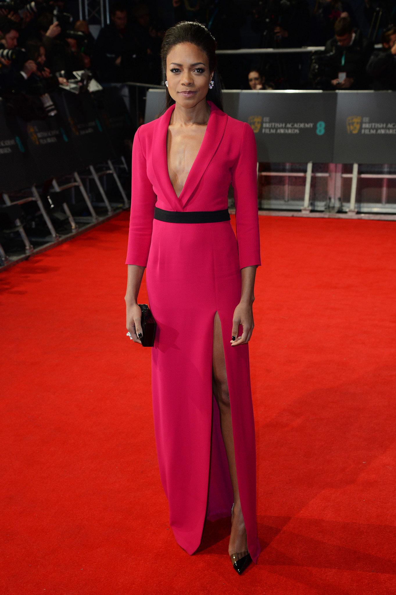 Naomie Harris on the 2014 BAFTA Red Carpet