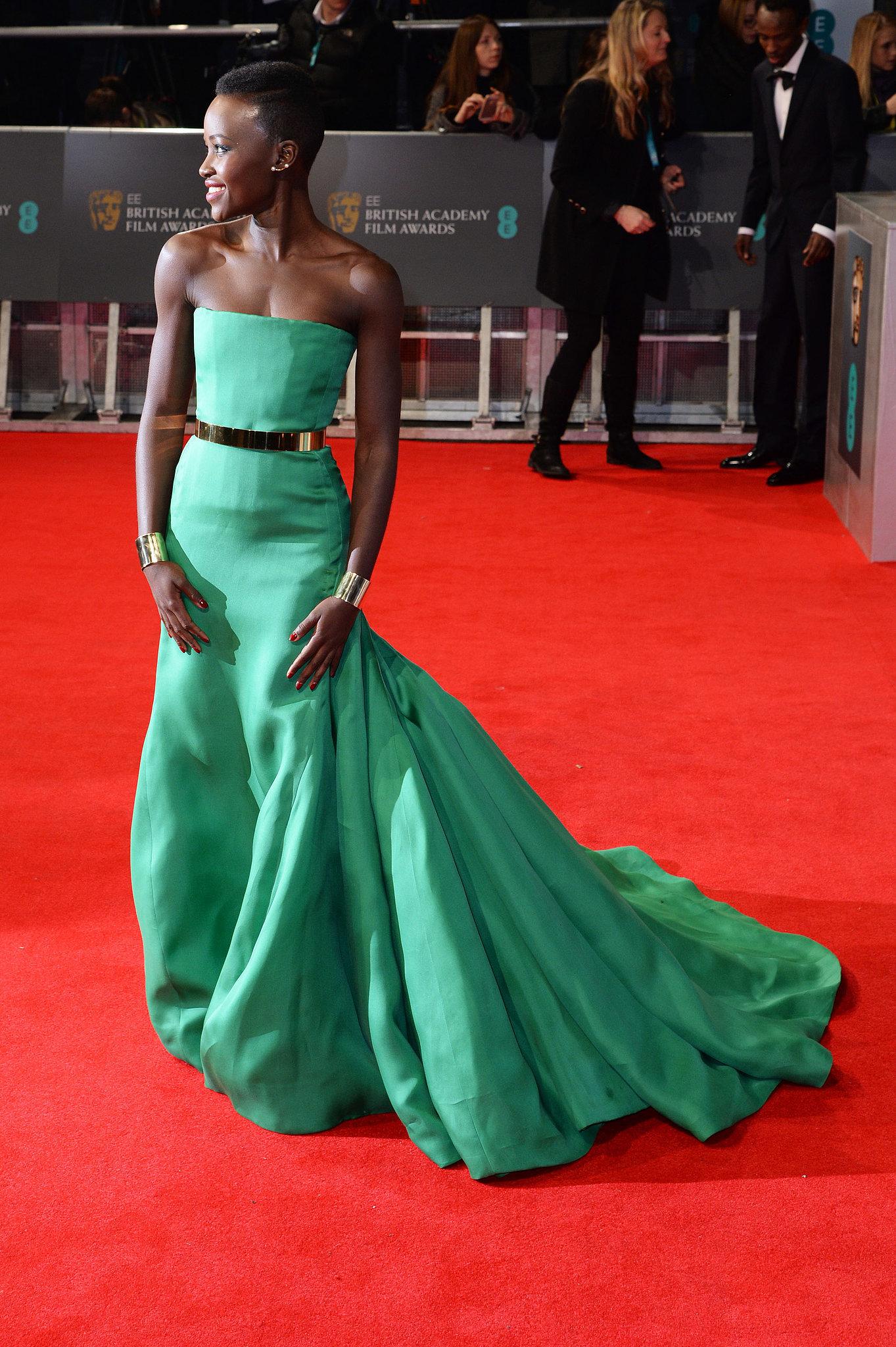Lupita Nyong'o on the 2014 BAFTA Red Carpet