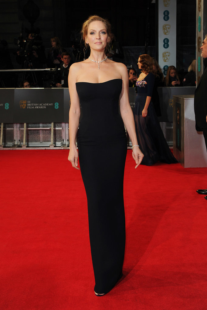 Uma Thurman at the 2014 BAFTA Awards.