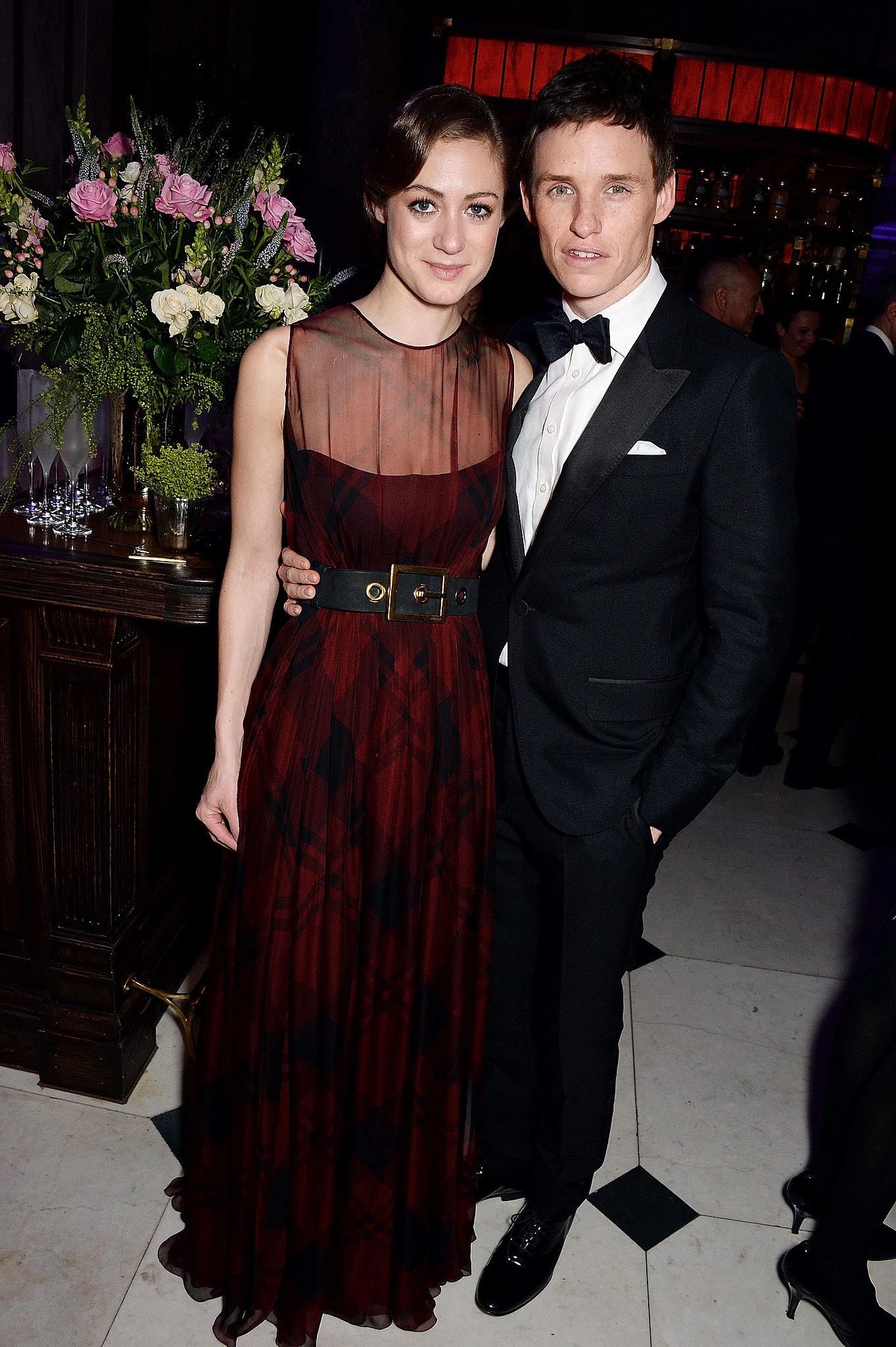 Eddie Redmayne brought Hannah Bagshawe to Harvey's party.