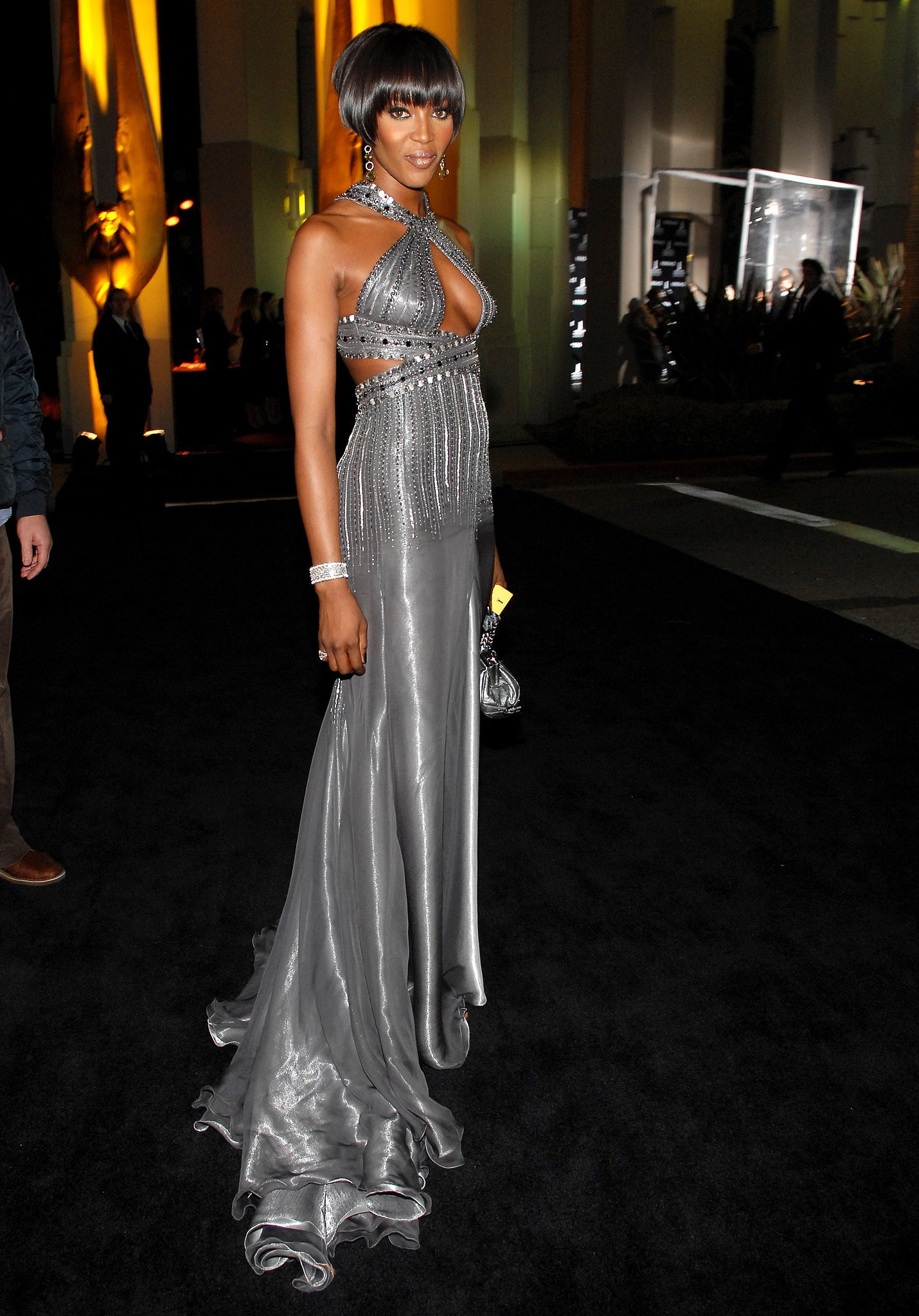 Naomi Campbell in Versace at the Walk of Style Awards