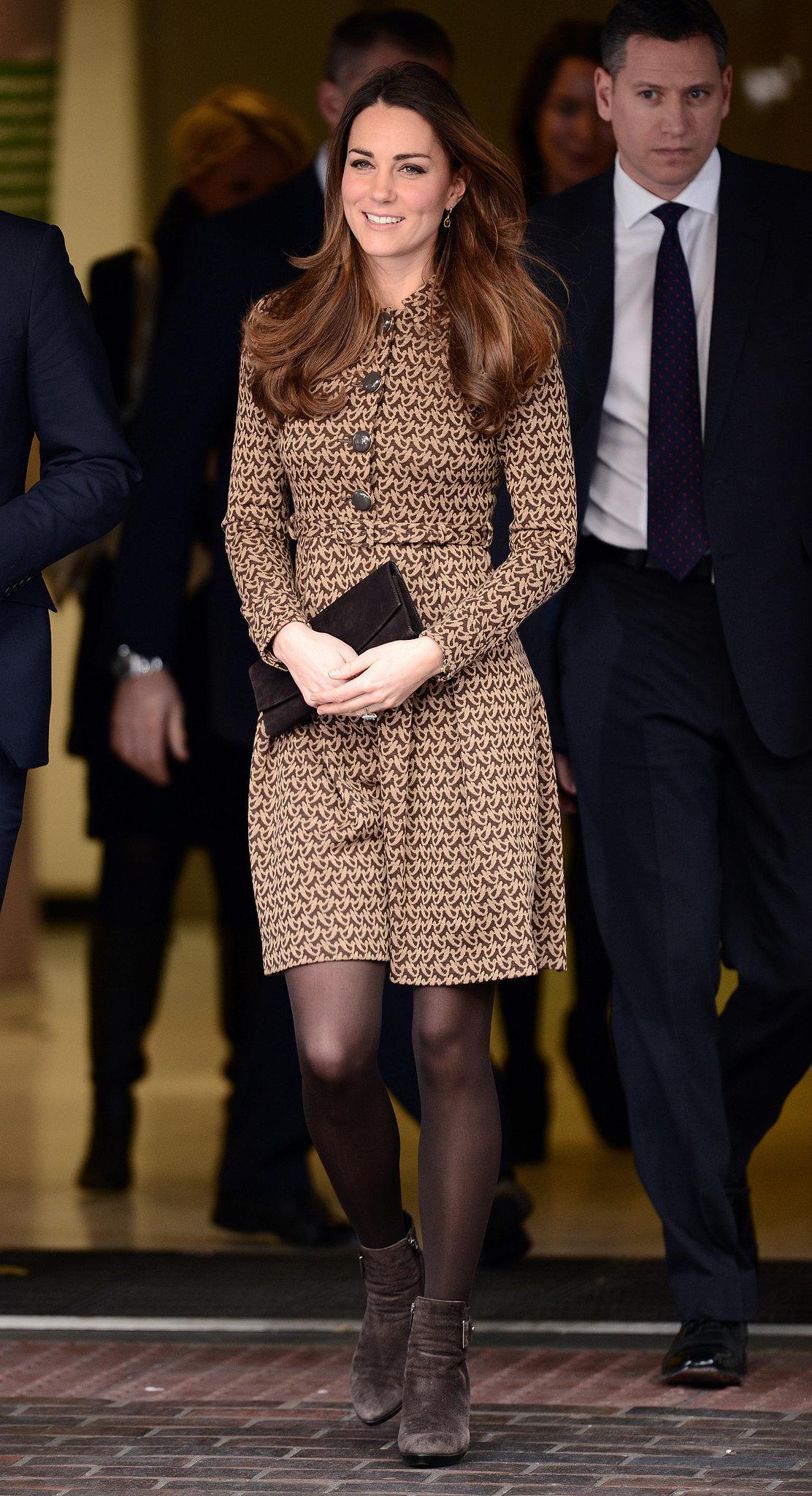 Kate Middleton in an Orla Kiely Dress