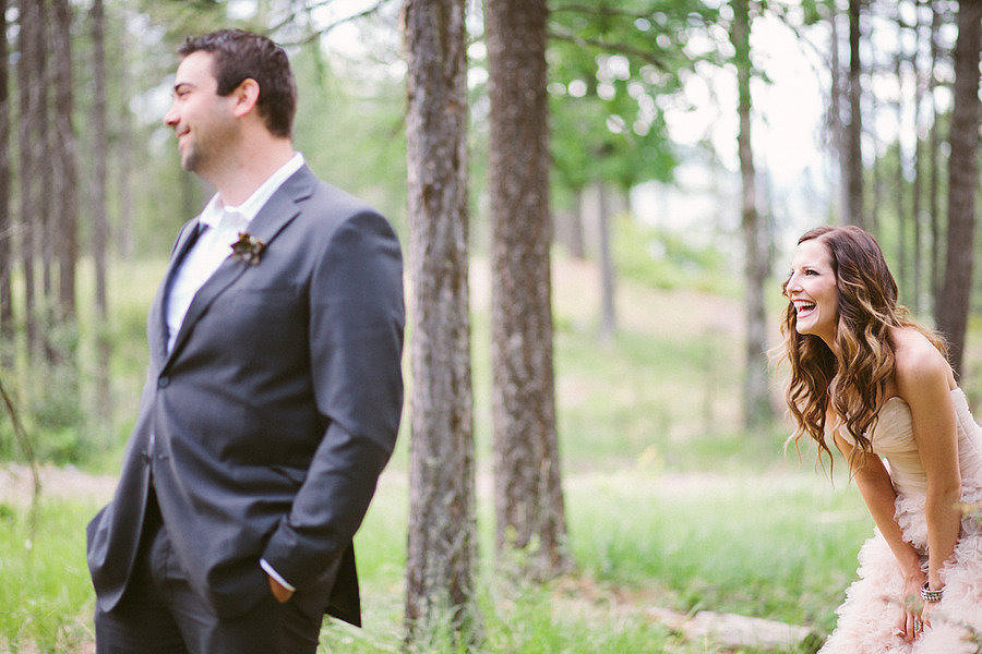 Happy feelings all around.  Photo by Cluney Photo via Style Me Pretty