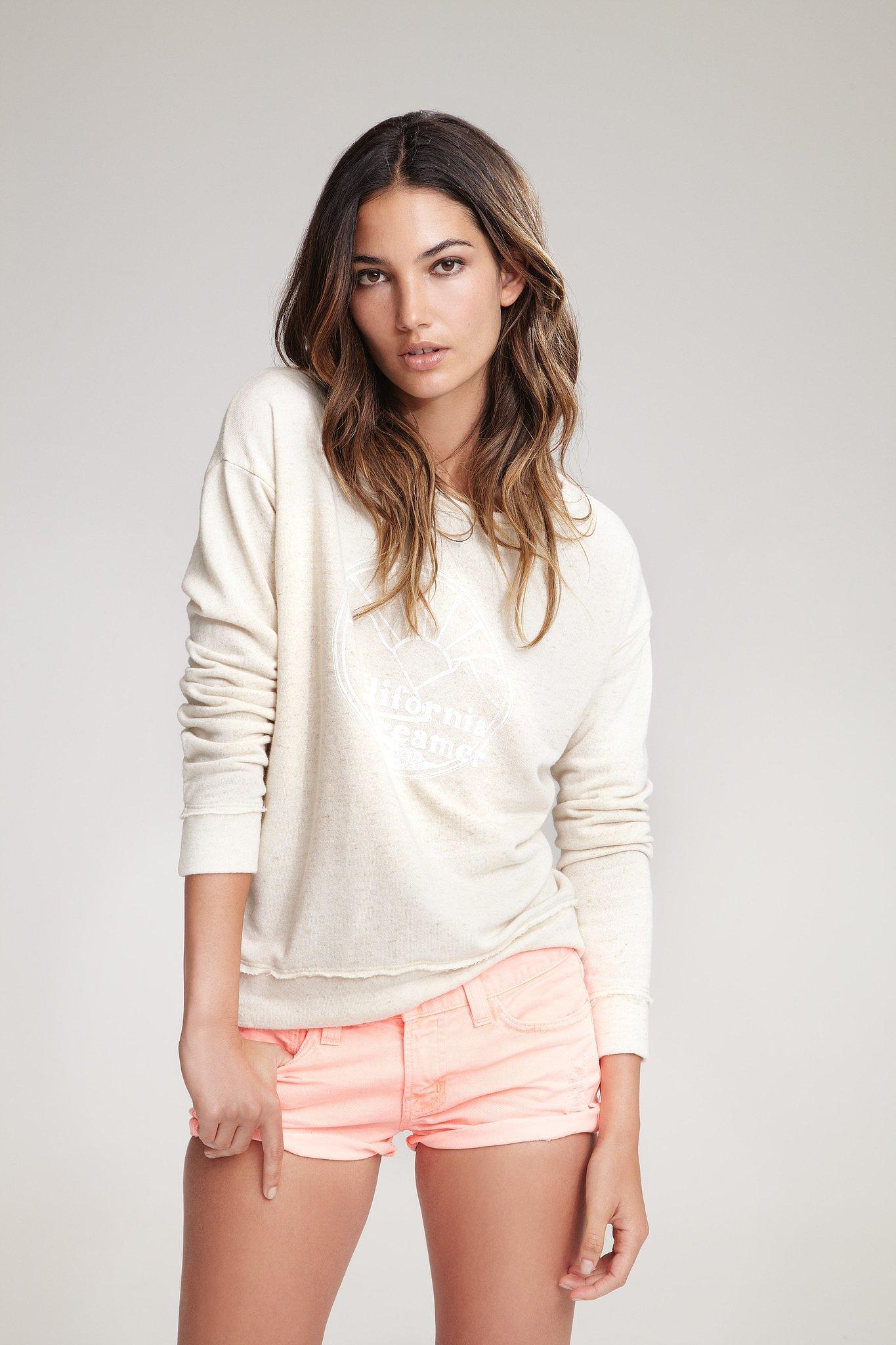 Lily Aldridge For Velvet Qiqi California Dreamer Sweatshirt ($95) Source: Courtesy of Velvet