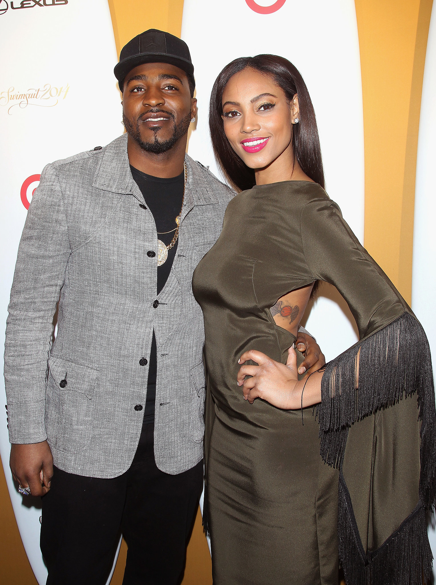 New York Giants footballer Hakeem Nicks and Sports Illustrated model Ariel Meredith were all smiles.