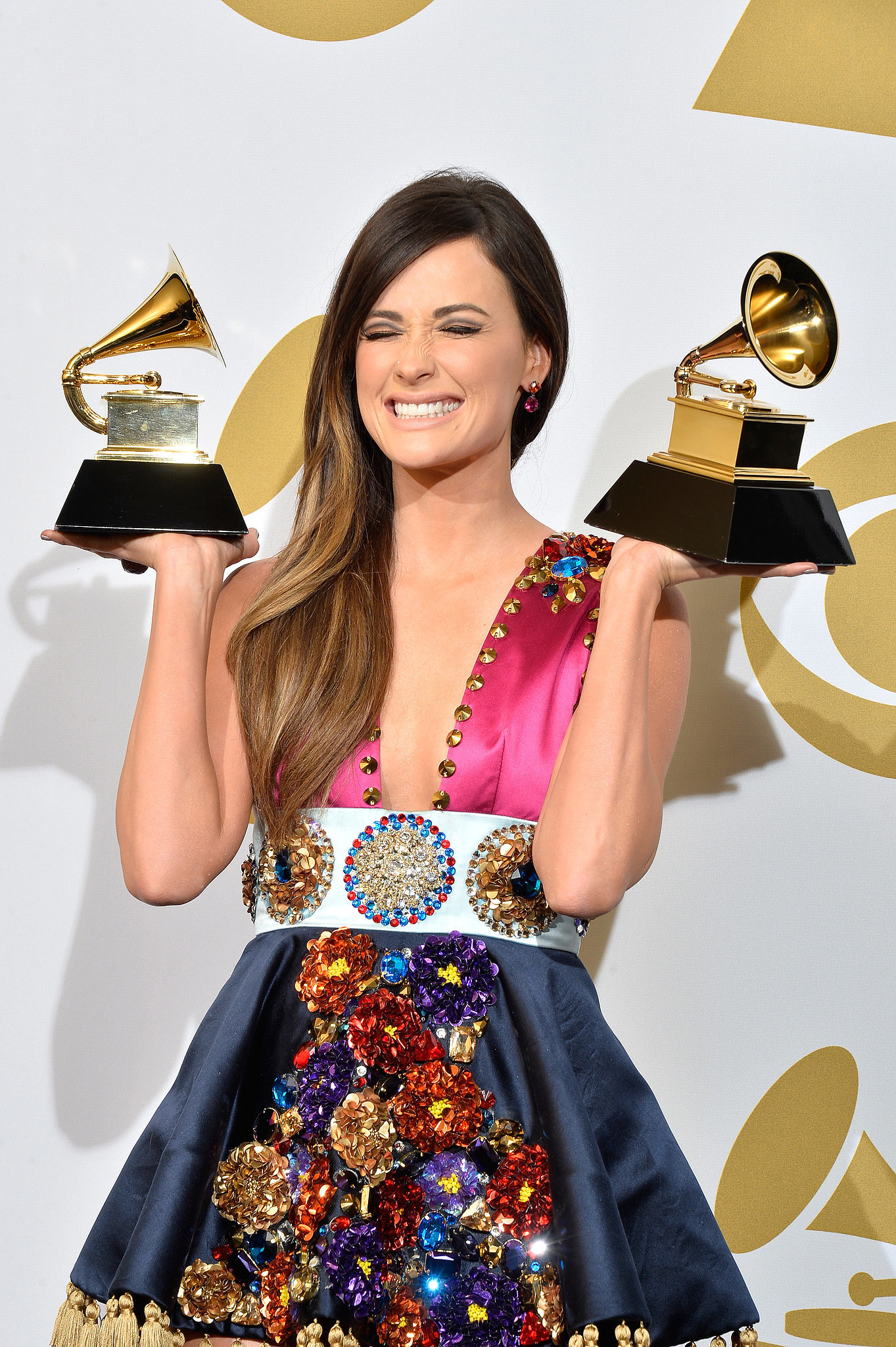 Kasey Musgraves Smiled Ear to Ear With Her Double Grammys