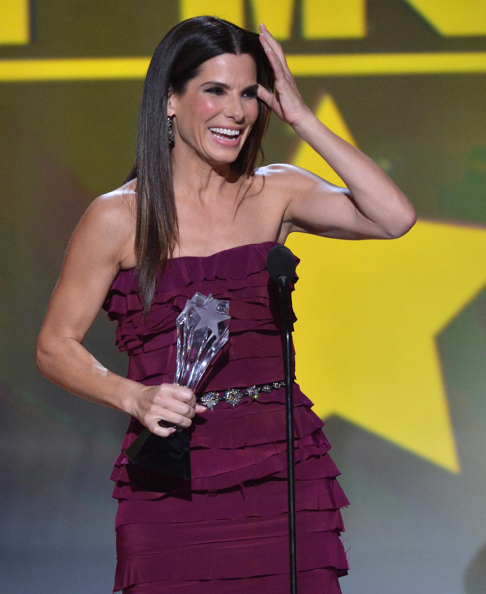 Sandra Bullock Beamed at the Critics' Choice Awards