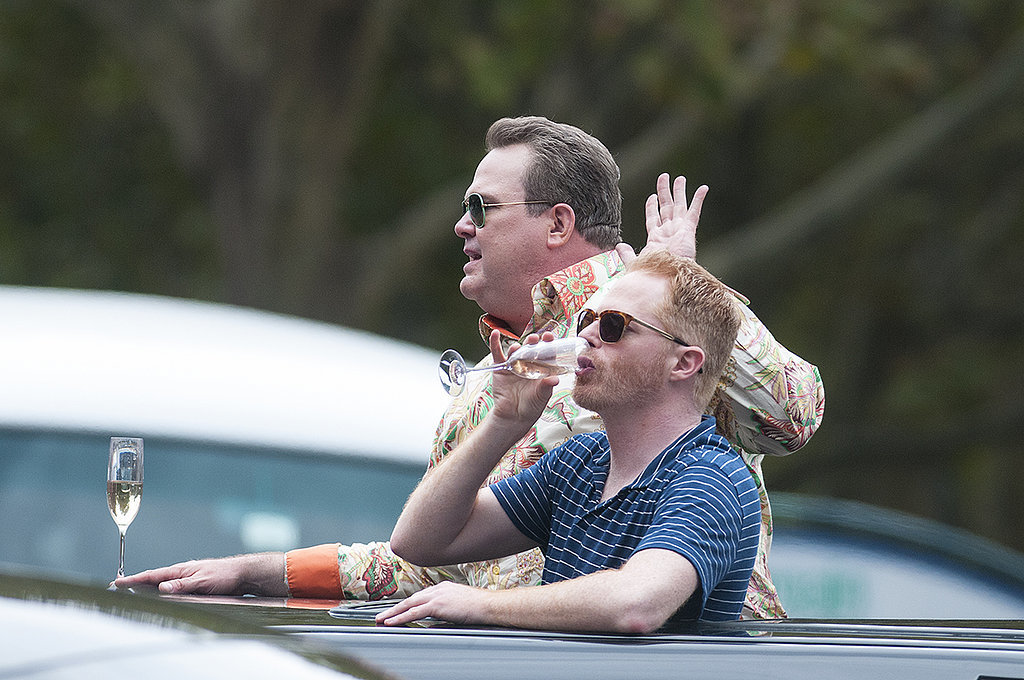Eric Stonestreet and Jesse Tyler Ferguson rode around Sydney in a limo on Feb. 19.