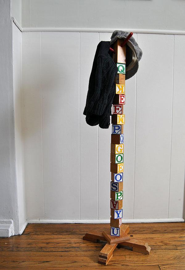 Kids Building Block Coat Hanger