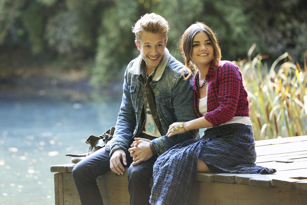 Aria and her new fling are all smiles. Source: ABC Family