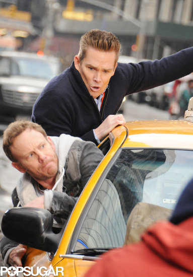 McGrath and Ziering pulled themselves out of a moving cab.