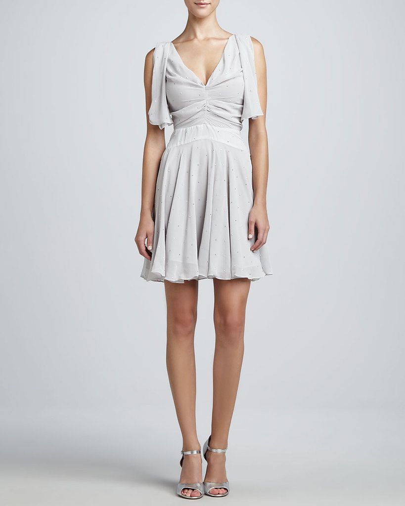 Z Spoke Zac Posen Gray Flutter-Sleeve Dress ($166, originally $475)