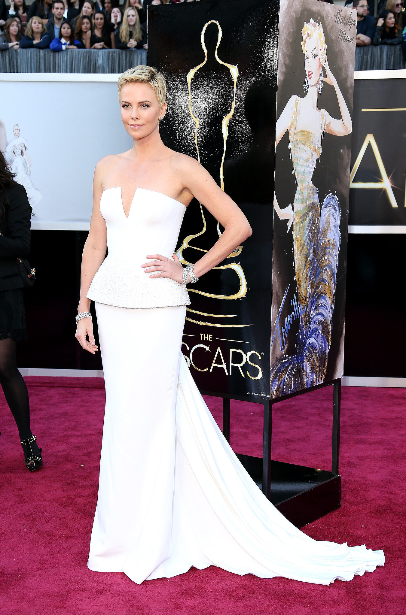 Charlize Theron at the 2013 Academy Awards