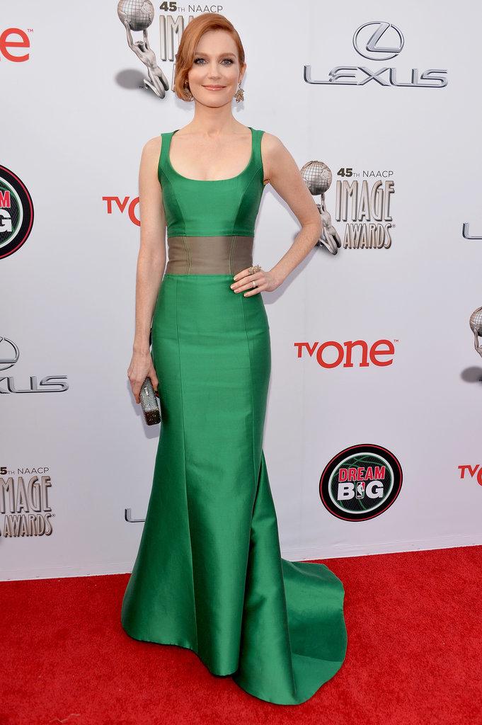 Elijah Kelley dazzled in a formfitting dress.