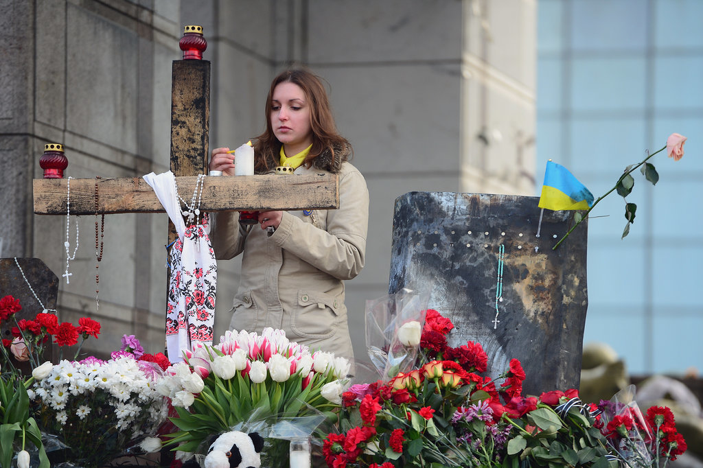 Flowers Have Replaced the Fire in Kiev