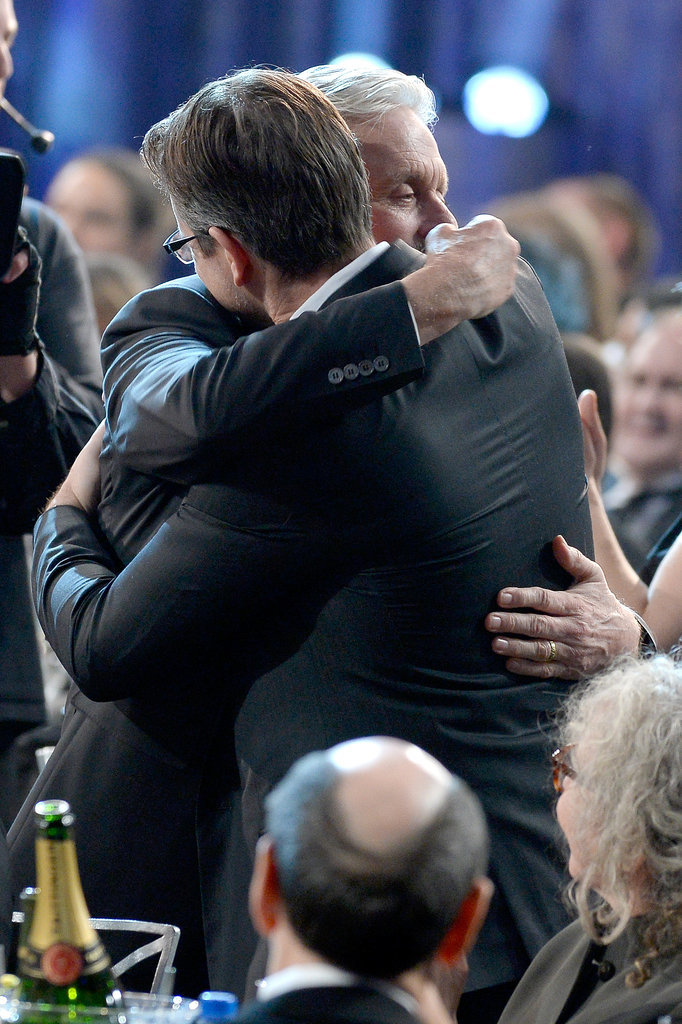 Matt Damon and Michael Douglas Shared the Sweetest Hug at the SAGs