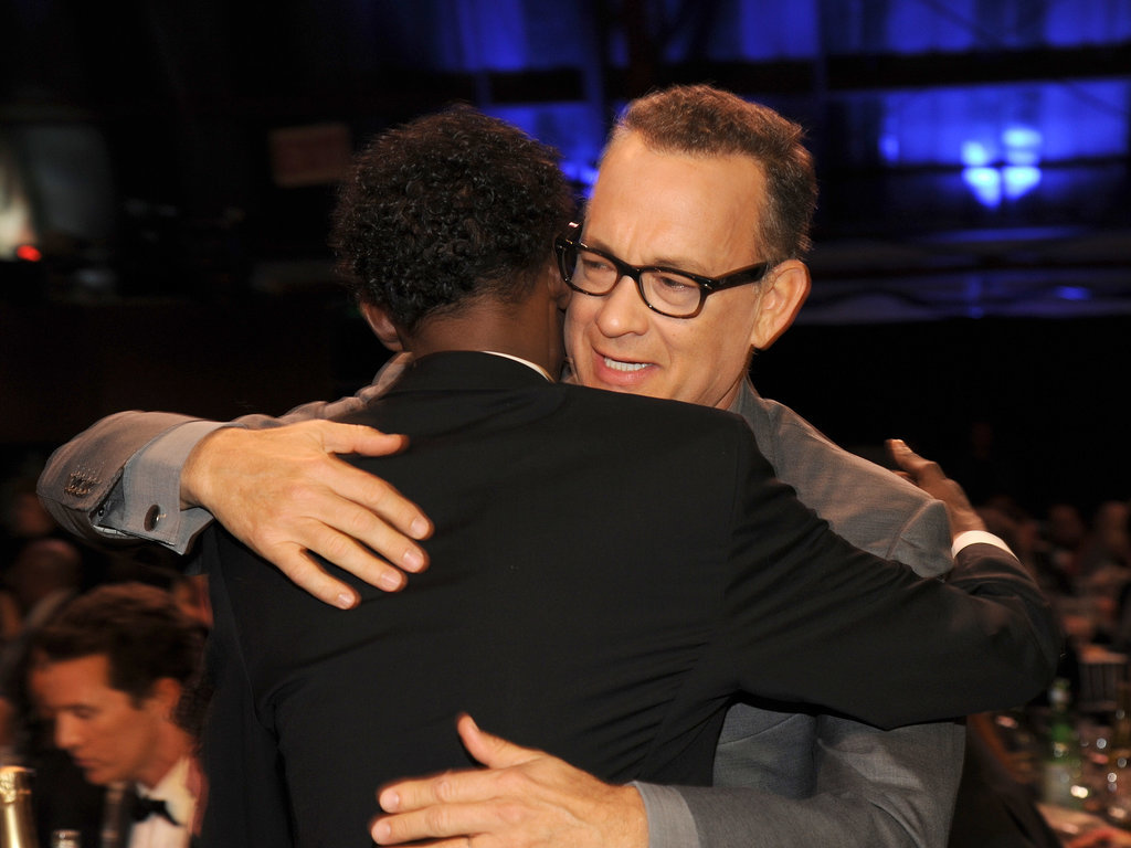 Tom Also Hugged His Captain Phillips Costar Barkhad Abdi