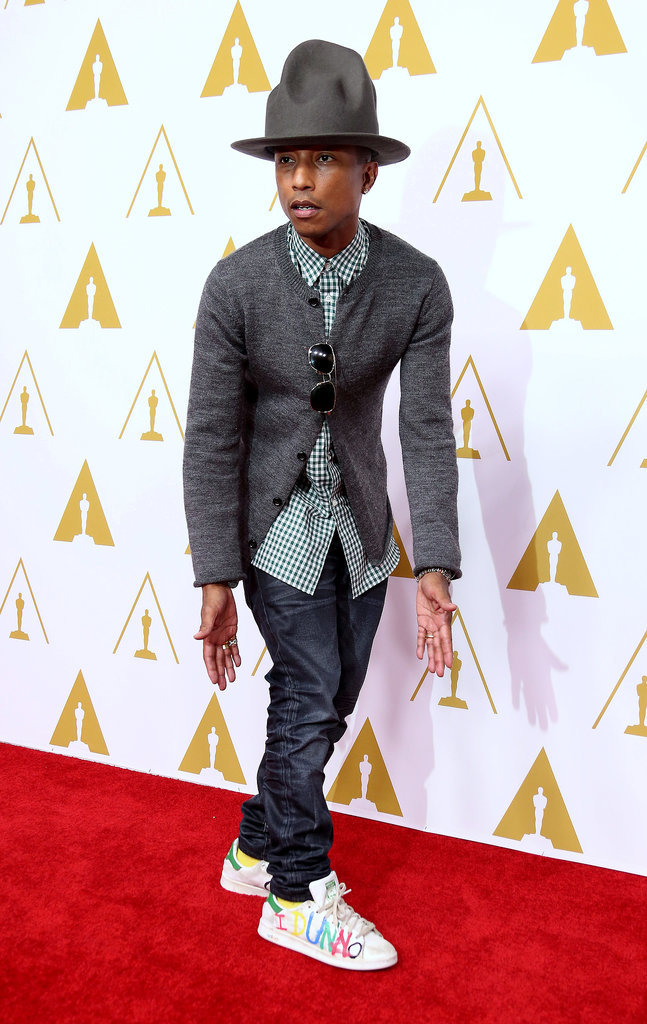 Pharrell brought his go-to date along to the Oscars Nominees Luncheon earlier in February.