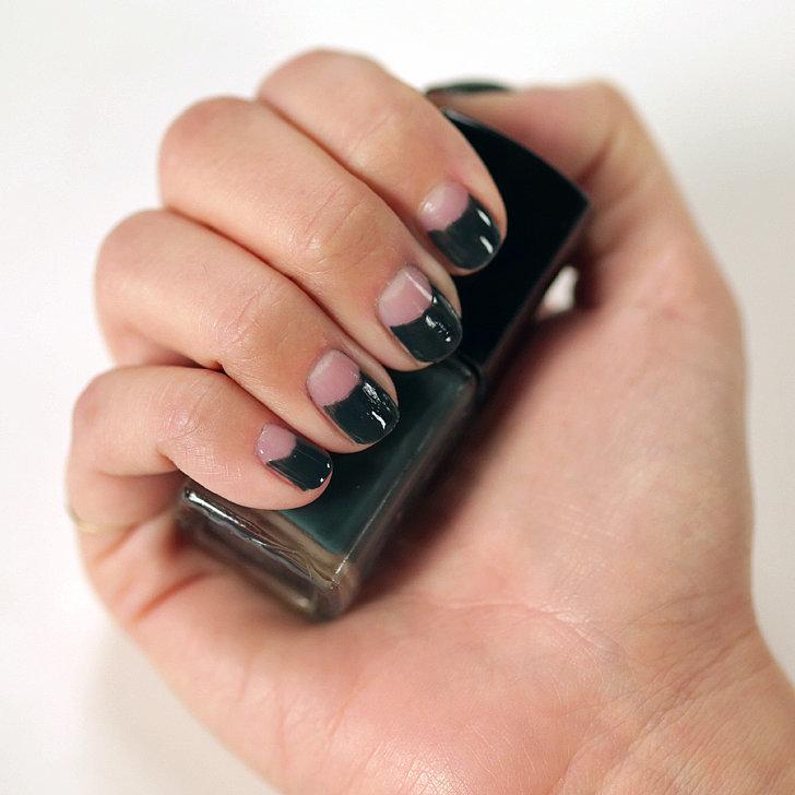 halfmoon manicure tutorial video popsugar beauty
