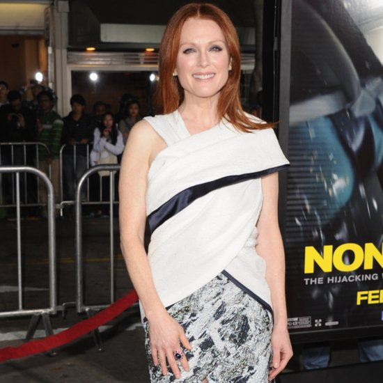 Julianne Moore in Prabal Gurung at Non-Stop Premiere