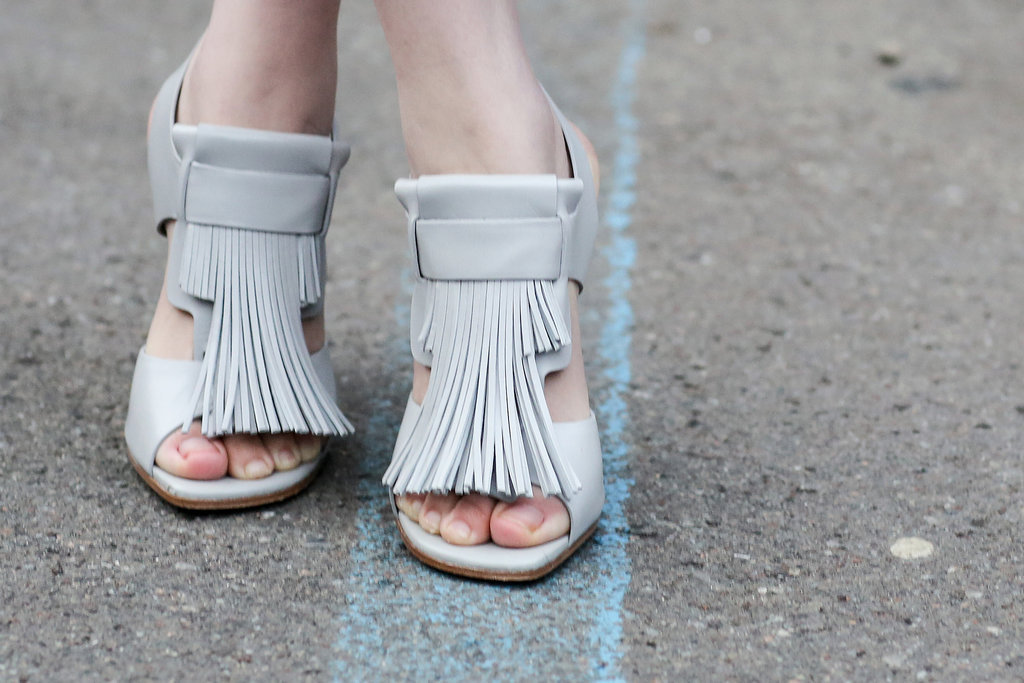 We love these loafer/sandal hybrids.