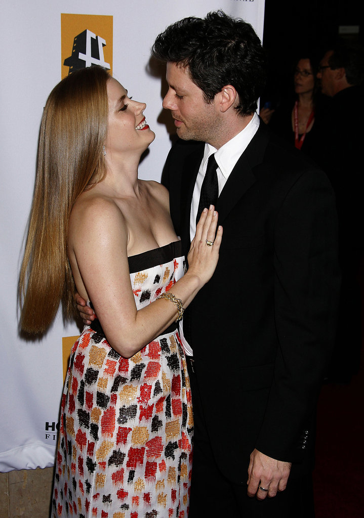 They shared a sweet look of love at the 2008 Hollywood Film Festival Awards gala.