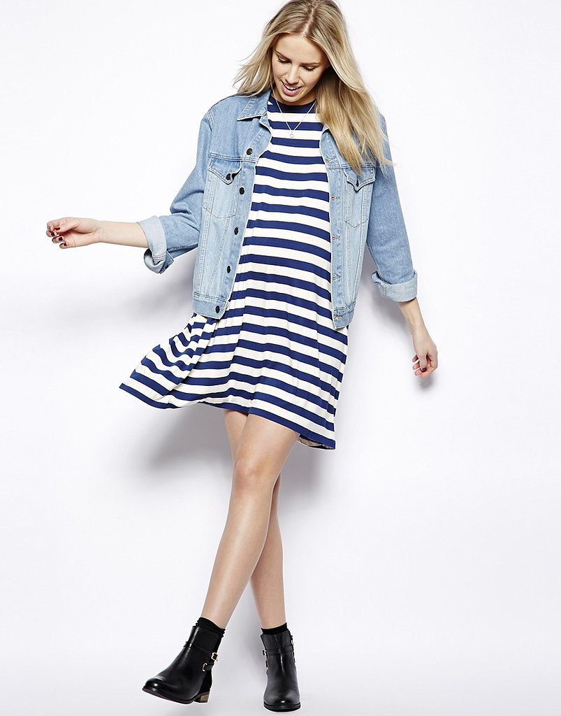 ASOS Striped Maternity T-Shirt Dress