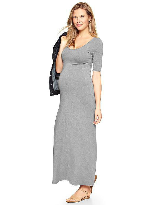 Gap Elbow-Sleeve Maxi Dress