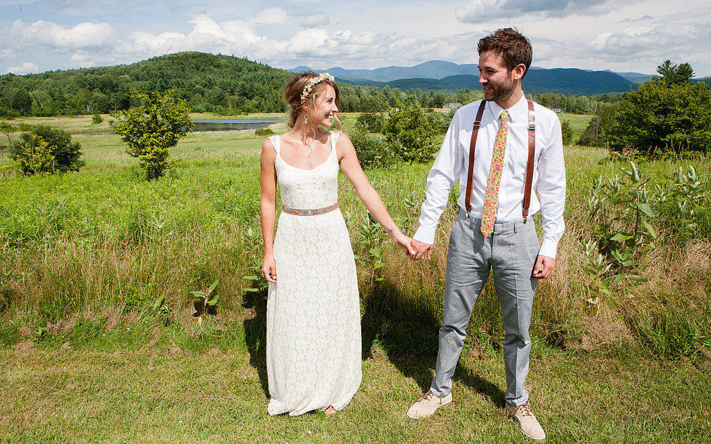 Amy not only sewed the little sleeves onto her dress, but she also made ties for her dad, Mark's dad, and Mark (now she even has a shop on Etsy). Source: Evangeline Lane Photography