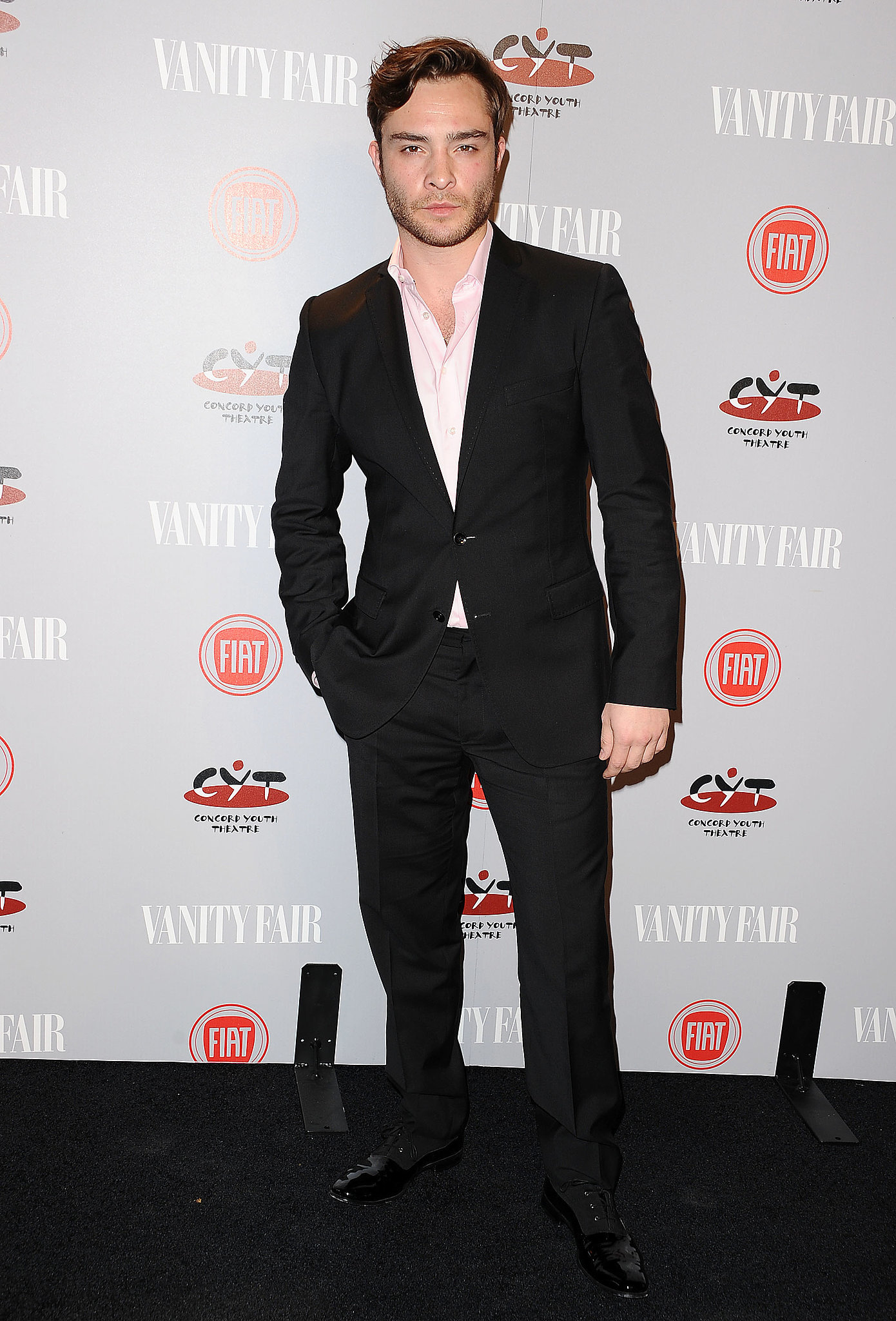 Ed Westwick channeled his inner Chuck Bass in a suit.