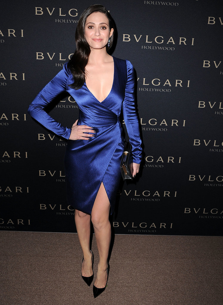 Emmy Rossum at the Bulgari Decades of Glamour Oscar Party