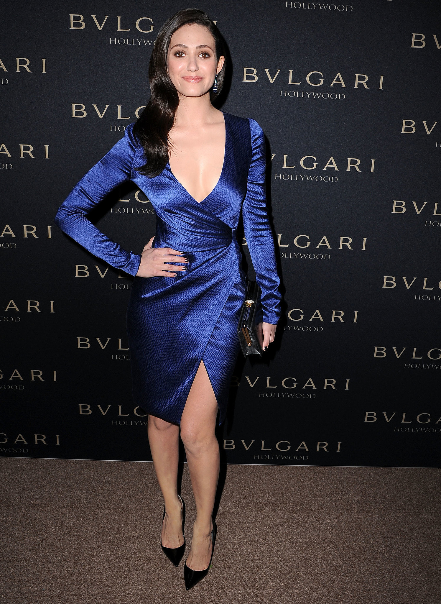 Emmy Rossum at the Bulgari Decades of Glamour Oscar Party